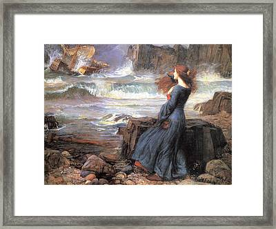 Miranda - The Tempest Framed Print