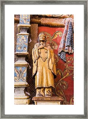 Mission San Xavier Del Bac - Interior Statue - Tucson Arizona Framed Print