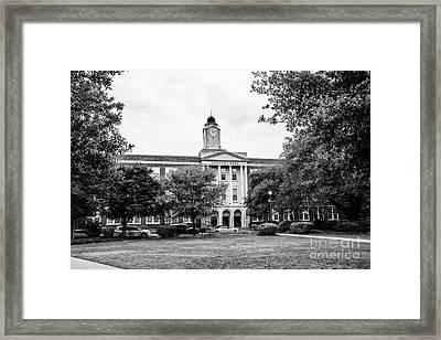 Mississippi College - Nelson Hall Bw Framed Print