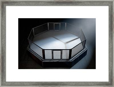 Mma Cage Night Framed Print
