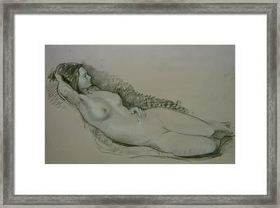 Model Study Framed Print by Tigran Ghulyan