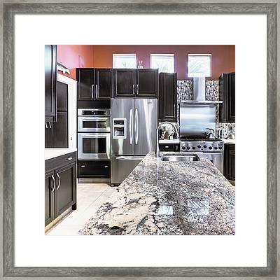Modern Kitchen Interior Framed Print by Skip Nall