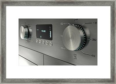 Modern Washing Machine Closeups Framed Print by Allan Swart
