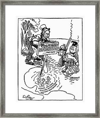 Monroe Doctrine Cartoon Framed Print by Granger