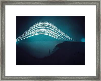 3 Month Exposure At Beachy Head Lighthouse Framed Print