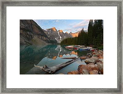 Moraine Lake Framed Print by Bernard Chen