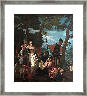 Moses Saved From The Waters Framed Print by Paolo Veronese