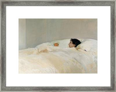Mother Framed Print by Joaquin Sorolla y Bastida