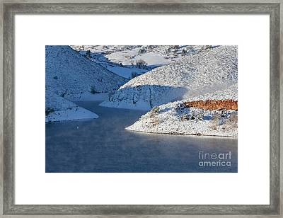 Mountain Lake In Winter Framed Print