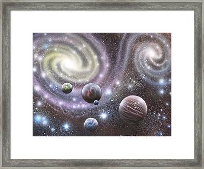 mULTIVERSE 223 Framed Print by Sam Del Russi