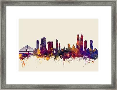 Mumbai Skyline India Bombay Framed Print