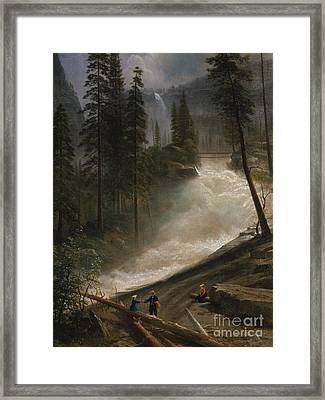 Nevada Falls, Yosemite Framed Print by Albert Bierstadt