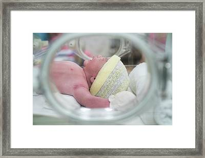 New Born Baby  Framed Print by Anek Suwannaphoom