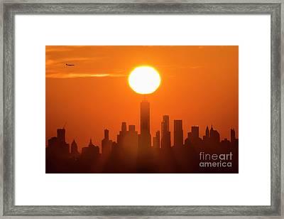 New York City Sunrise Framed Print