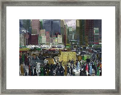 New York Framed Print by George Bellows