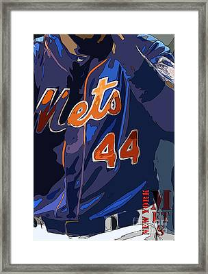 New York Mets Baseball Team And New Typography Framed Print