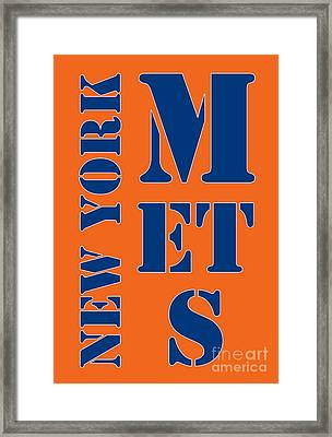 New York Mets Typography Framed Print