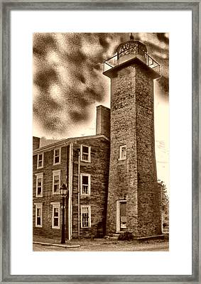 Newbury Harbor Rr Lighthouse Ma Framed Print by Skip Willits