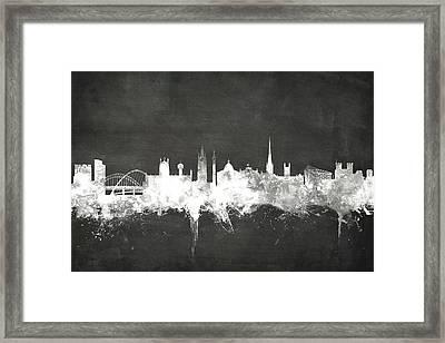 Newcastle England Skyline Framed Print