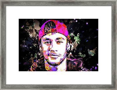 Neymar Framed Print by Svelby Art