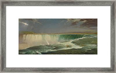 Niagara Framed Print by Frederic Edwin Church