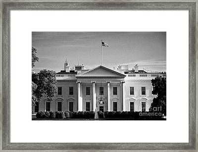 northern facade of the white house Washington DC USA Framed Print