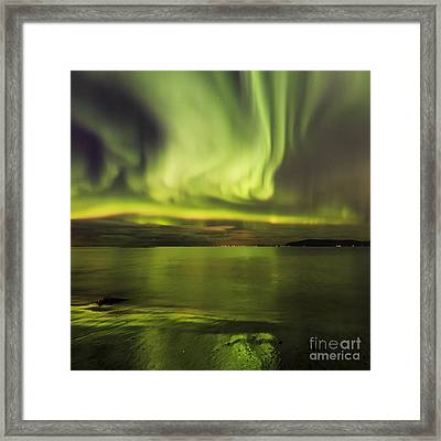 Northern Lights Reykjavik Framed Print