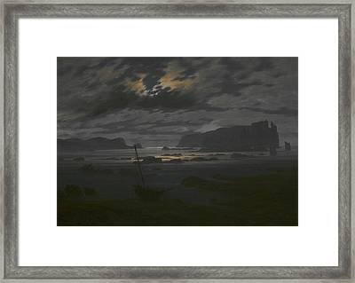 Northern Sea In The Moonlight Framed Print