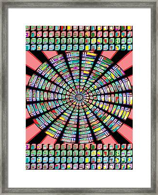 Novino Sale Fineart Chakra Mandala Round Circle Inspirational Healing Art At Fineartamerica.com By N Framed Print by Navin Joshi
