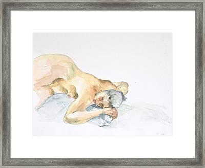 Nude Series Framed Print by Eugenia Picado