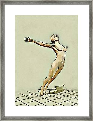 Nude Study By Mb Framed Print