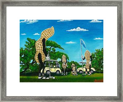 Nutz Bout Golf Framed Print by Charles Vaughn