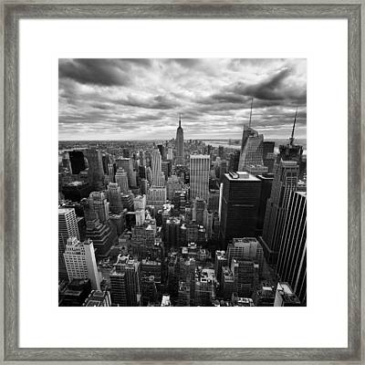 Nyc Empire Framed Print by Nina Papiorek