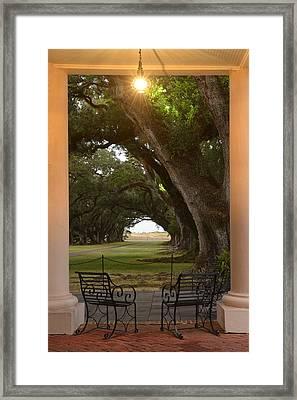 Oak Alley Framed Print by Christian Heeb