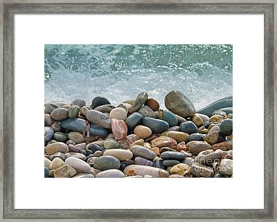 Ocean Stones Framed Print by Stelio Photography