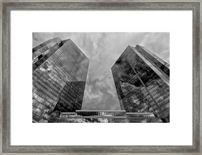 Office Buildings White Plains Ny Framed Print