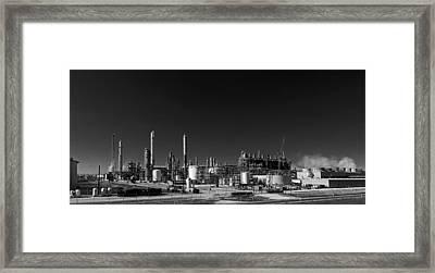 Oil Refinery - Groves Texas Framed Print by Mountain Dreams