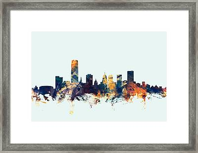 Oklahoma City Skyline Framed Print by Michael Tompsett