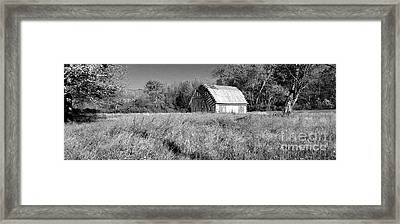 Old Barn In The Meadow Framed Print by Scott D Van Osdol