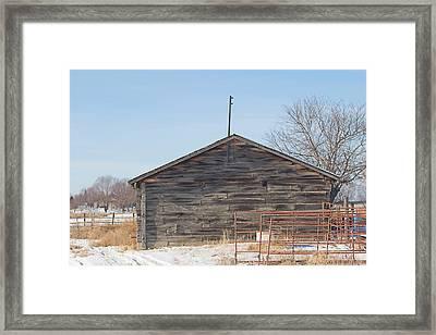 Old Cabin In Idaho, Usa Framed Print