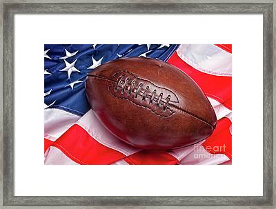 Framed Print featuring the photograph Old Glory Flag by Gualtiero Boffi