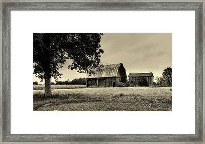Old Hay Barn - Indiana Framed Print