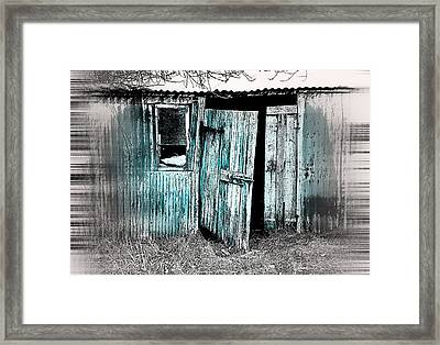 Old Hut Framed Print by Tom Gowanlock