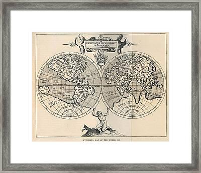 Old Map Framed Print
