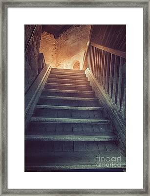 Old Stairs Framed Print by Mythja Photography