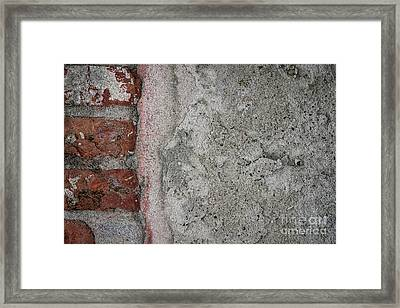 Old Wall Fragment Framed Print
