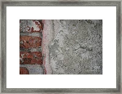 Old Wall Fragment Framed Print by Elena Elisseeva