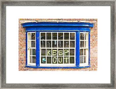 Old Window  Framed Print