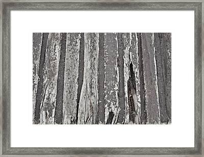 Old Wood Framed Print by Tom Gowanlock