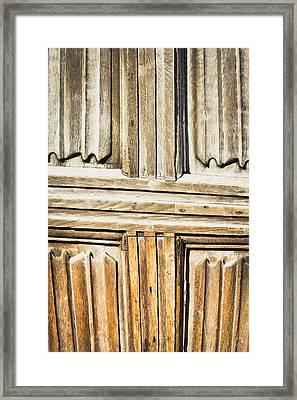 Old Wooden Panels Framed Print by Tom Gowanlock